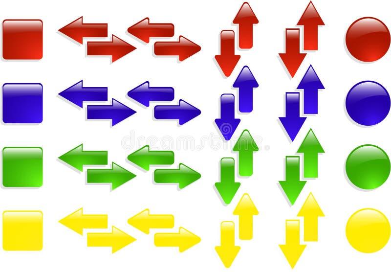 Jogo do ícone da cor ilustração do vetor