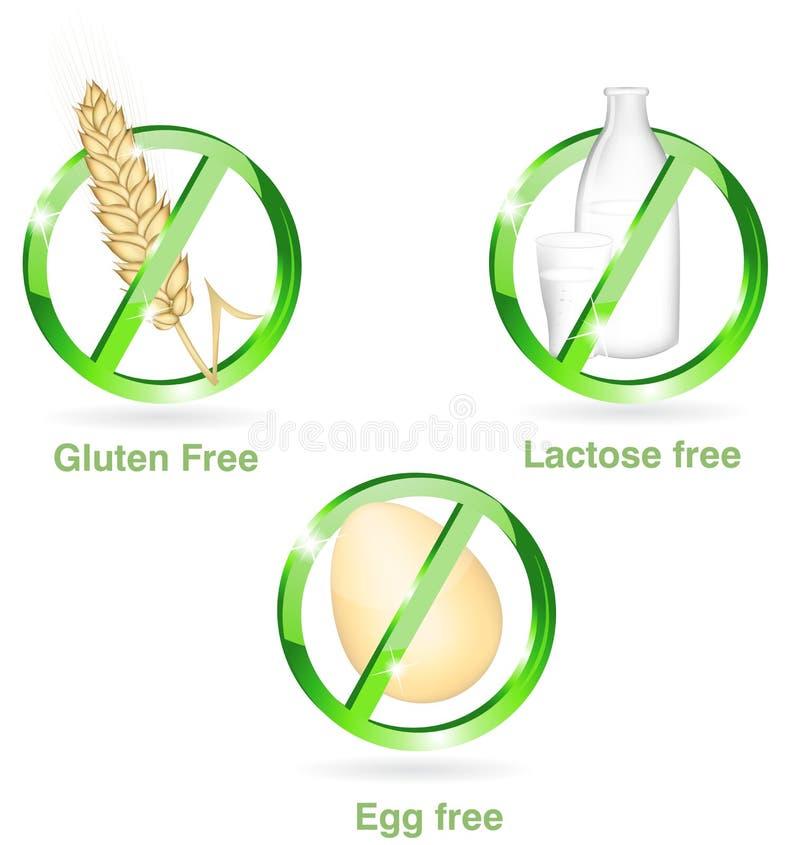 Jogo do ícone da dieta ilustração royalty free