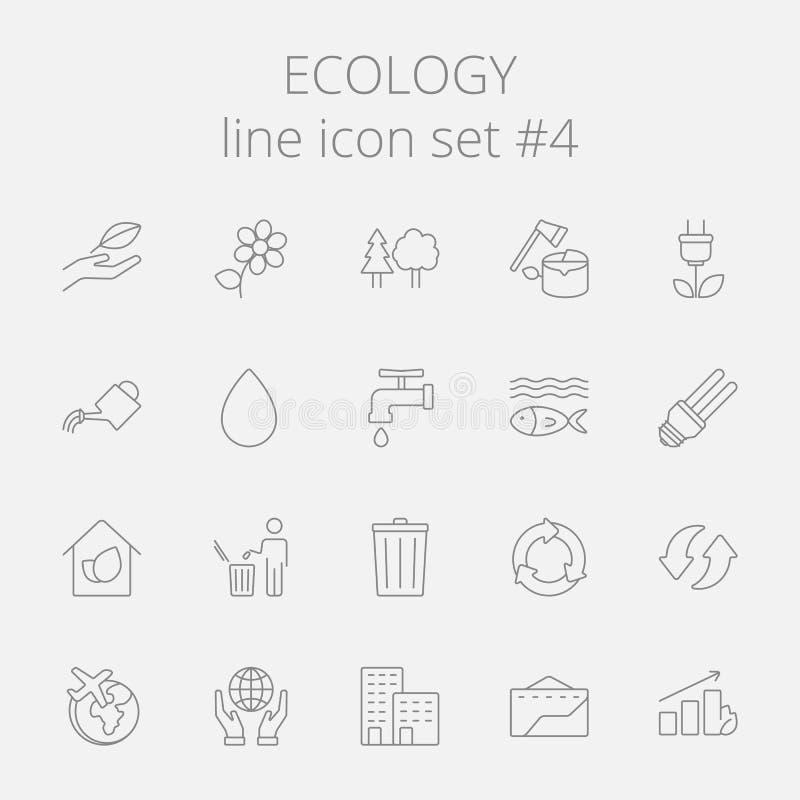 Jogo do ícone da ecologia ilustração royalty free