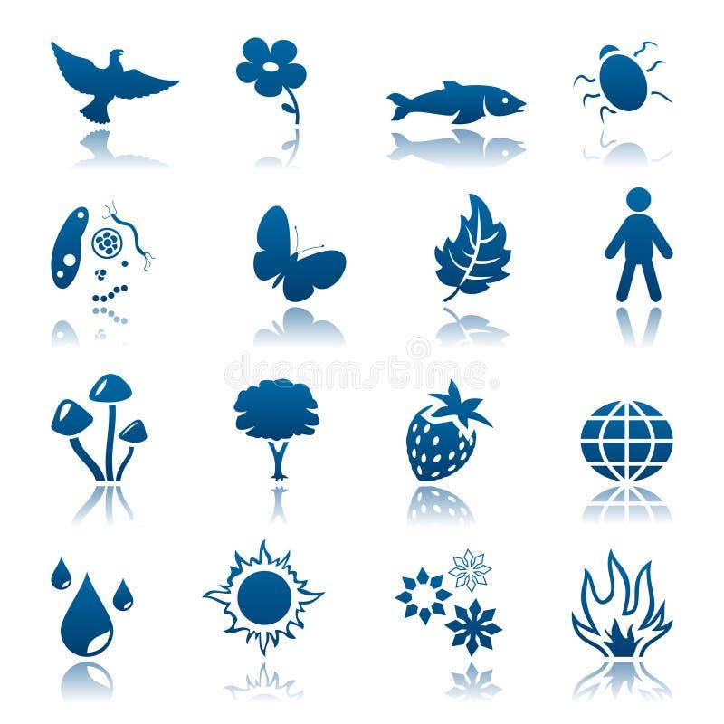 Jogo do ícone da natureza ilustração royalty free