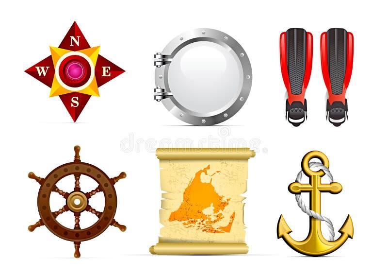 Jogo do ícone da navigação ilustração royalty free