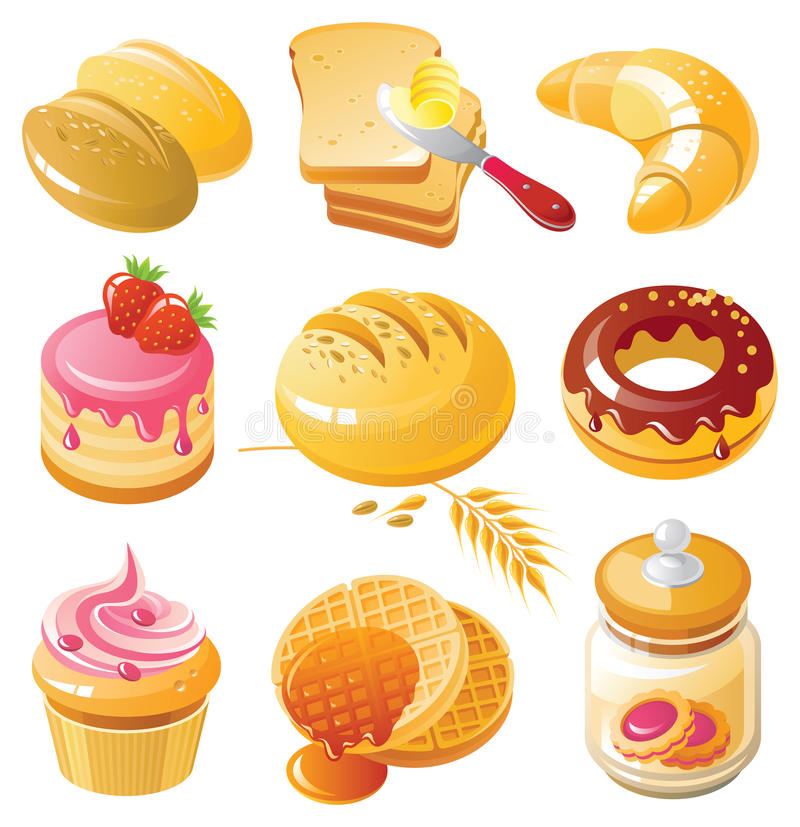 Jogo do ícone da padaria