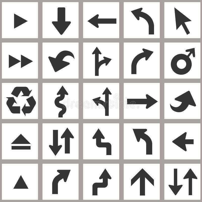 Jogo do ícone da seta Grupo universal do ícone do vetor ilustração do vetor