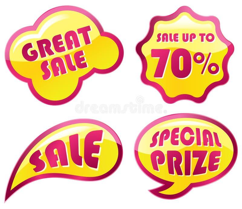 Jogo do ícone da venda ilustração stock