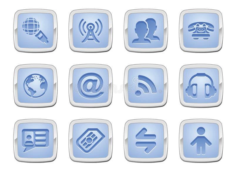 Jogo do ícone de uma comunicação ilustração stock