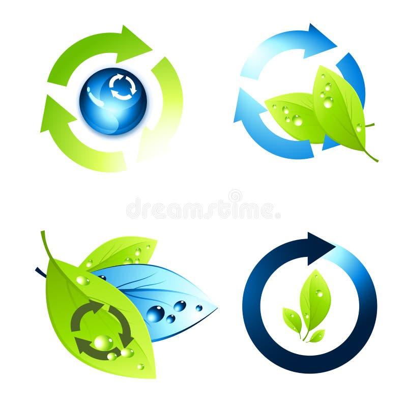 Jogo do ícone do ambiente ilustração stock