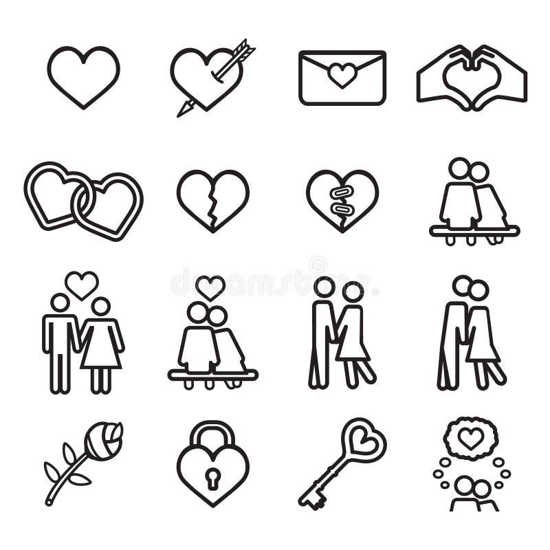 Jogo do ícone do amor Vetor eps10 ilustração do vetor