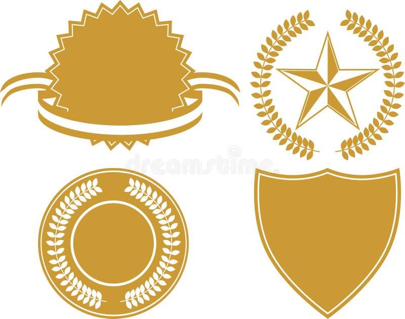 Jogo do ícone do certificado ilustração royalty free
