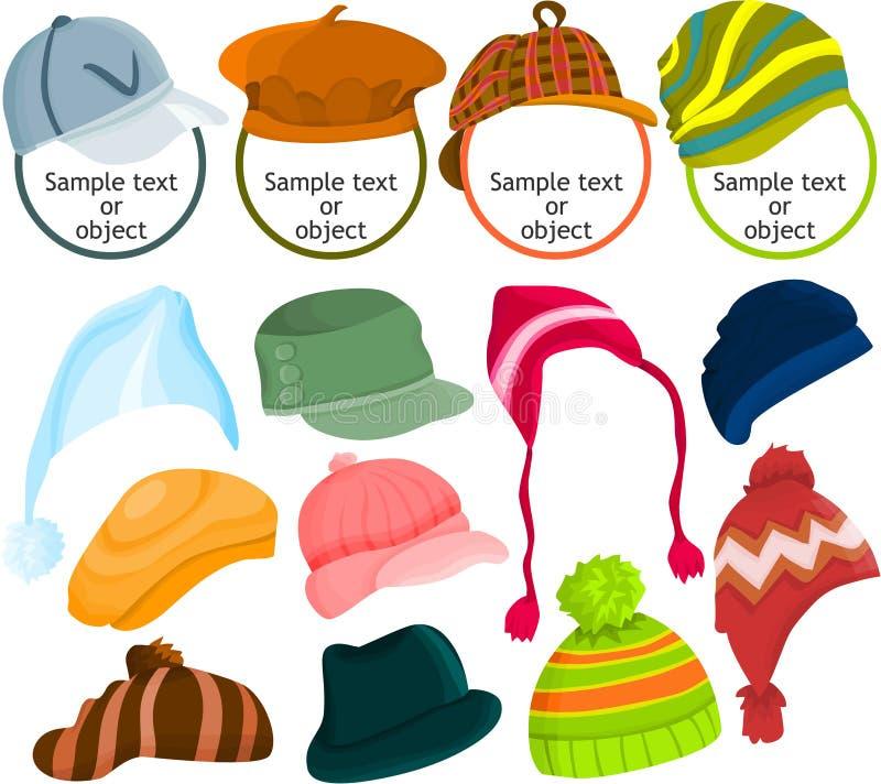 Jogo do ícone do chapéu ilustração royalty free