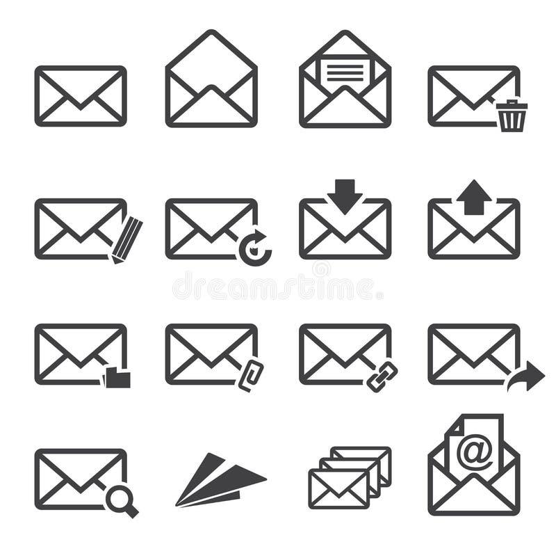 Jogo do ícone do correio ilustração royalty free