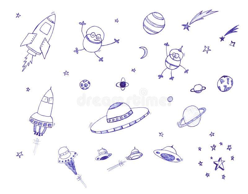 Jogo do ícone do espaço ilustração royalty free