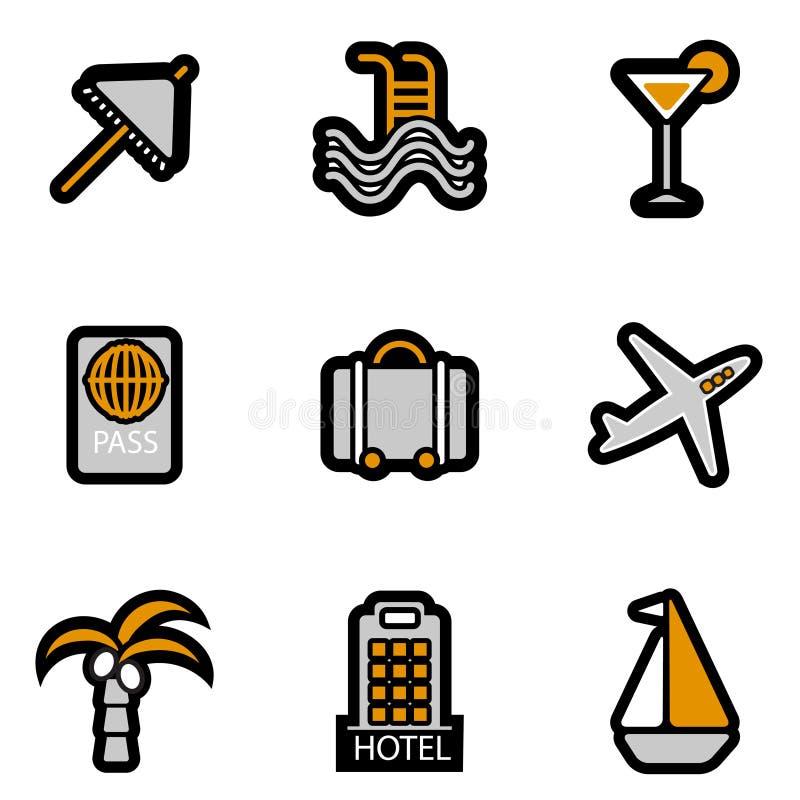Jogo do ícone do feriado ilustração stock