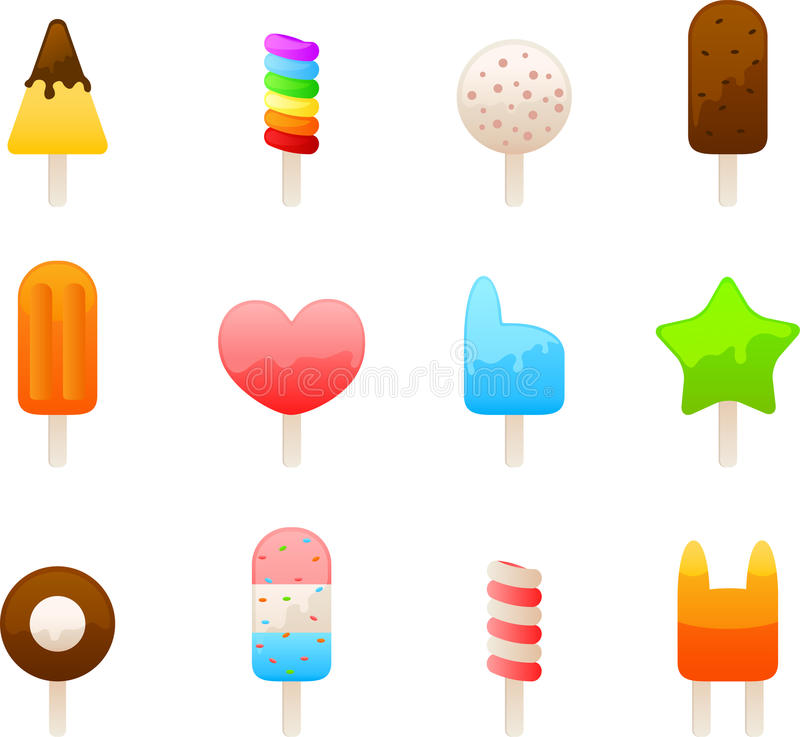 jogo do ícone do gelado ilustração royalty free