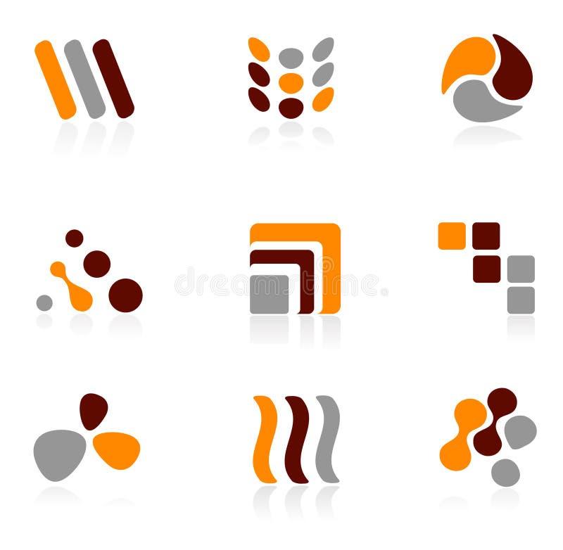 Jogo do ícone do logotipo ilustração stock