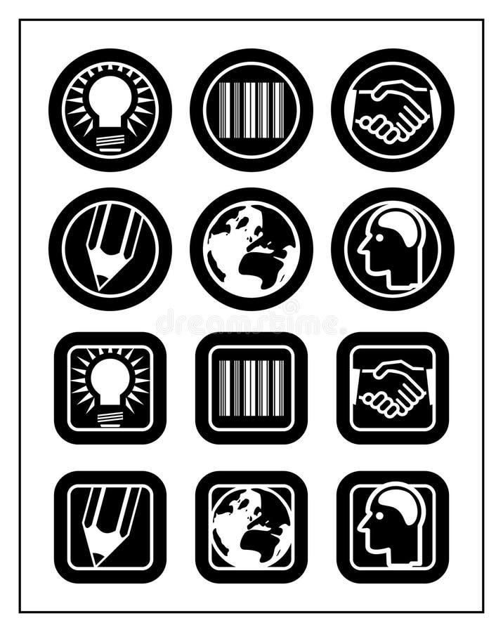Jogo do ícone do negócio ilustração royalty free
