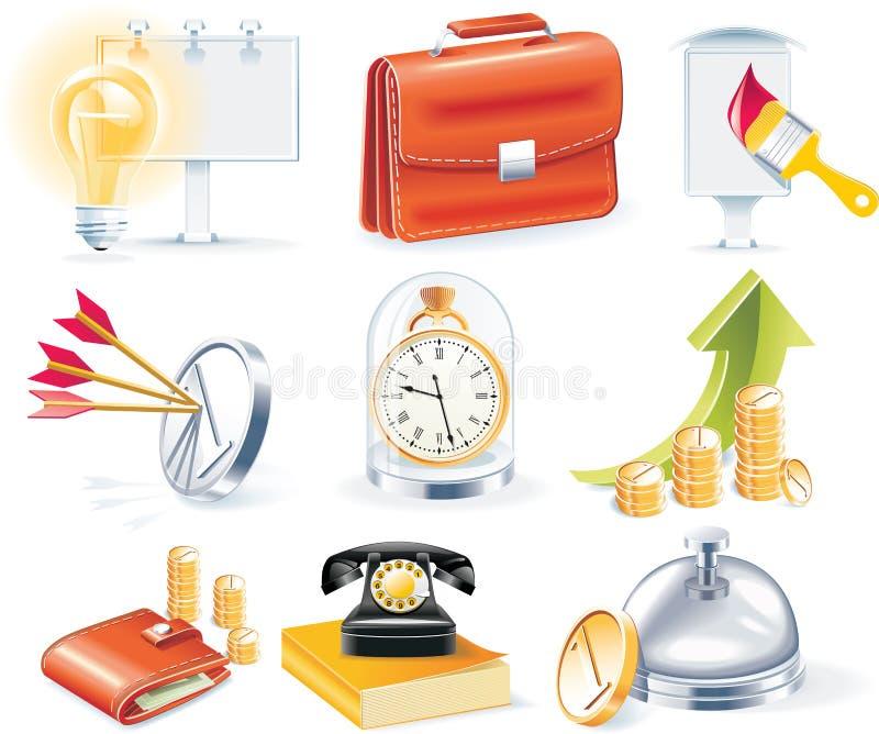 Jogo do ícone do negócio do vetor ilustração stock