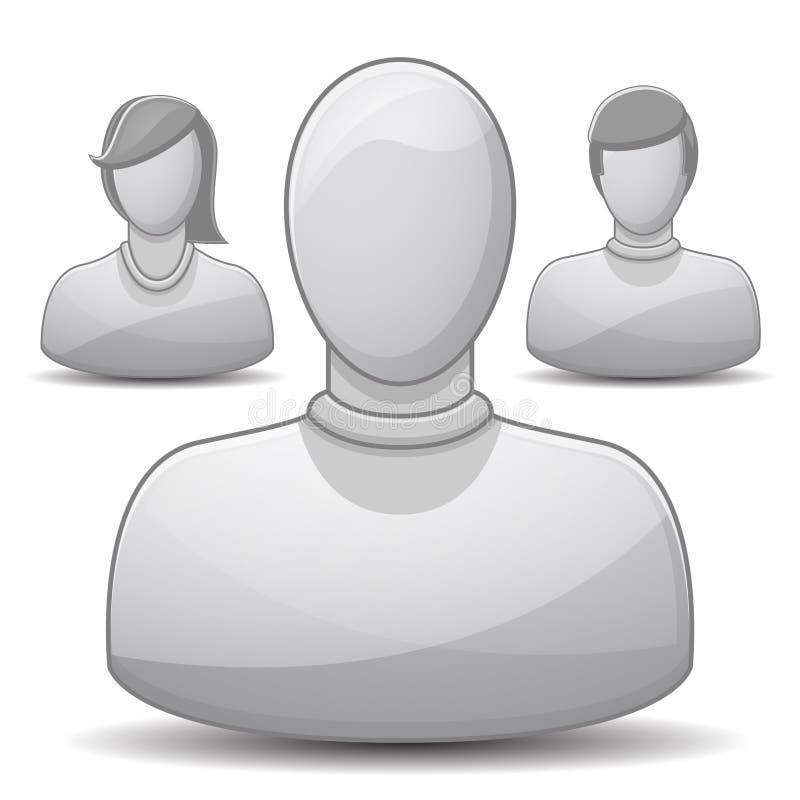 Jogo do ícone do perfil ilustração stock
