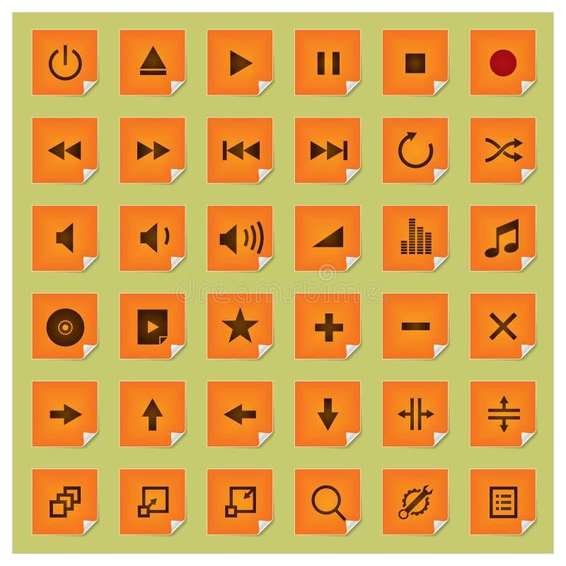 Jogo do ícone do Série-Jogador de Stickee ilustração stock