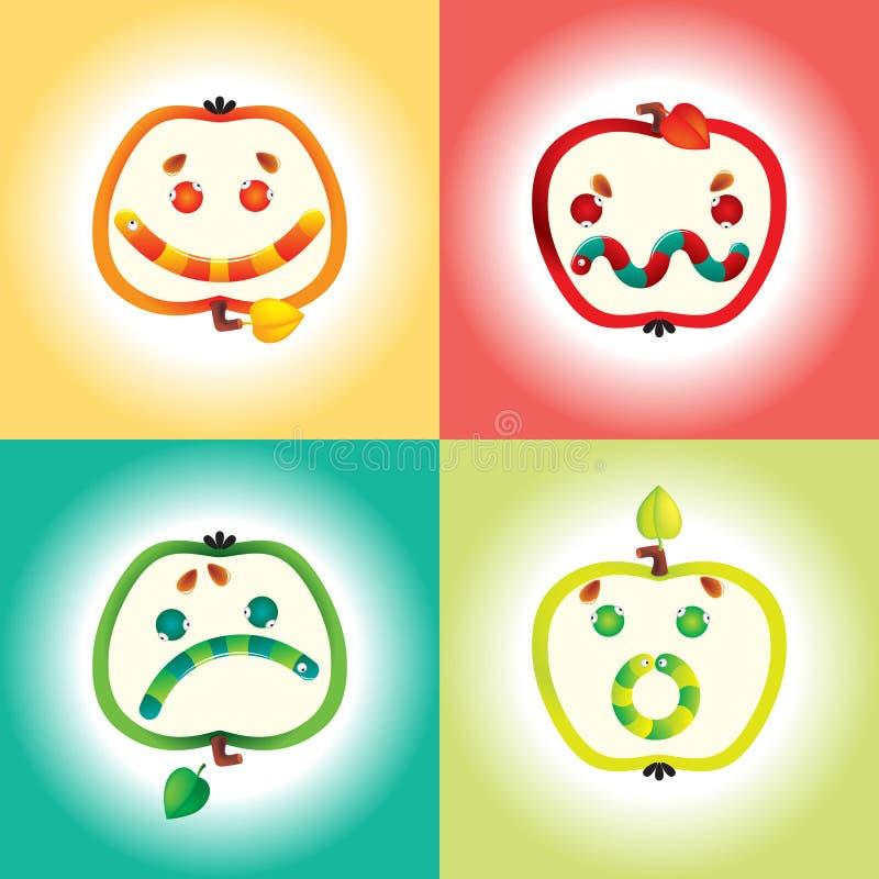 Jogo do ícone do sorriso ilustração do vetor