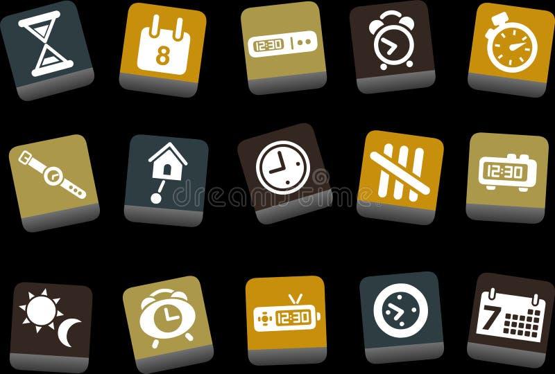 Jogo do ícone do tempo ilustração stock