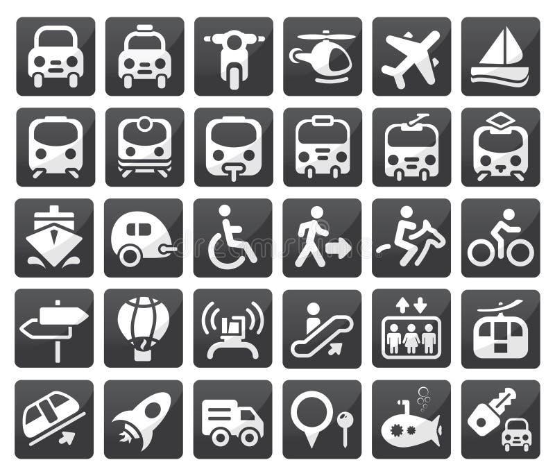 Jogo do ícone do transporte