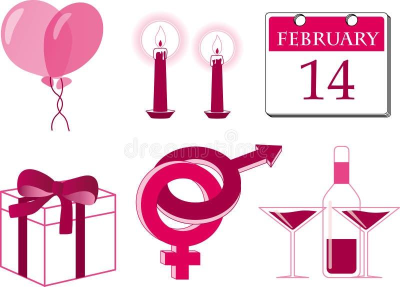 Download Jogo do ícone do Valentim ilustração stock. Ilustração de velas - 12813263