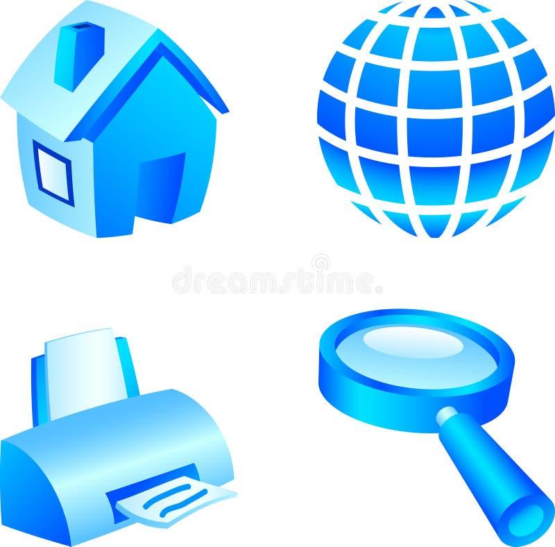 Jogo do ícone do Web. ilustração do vetor