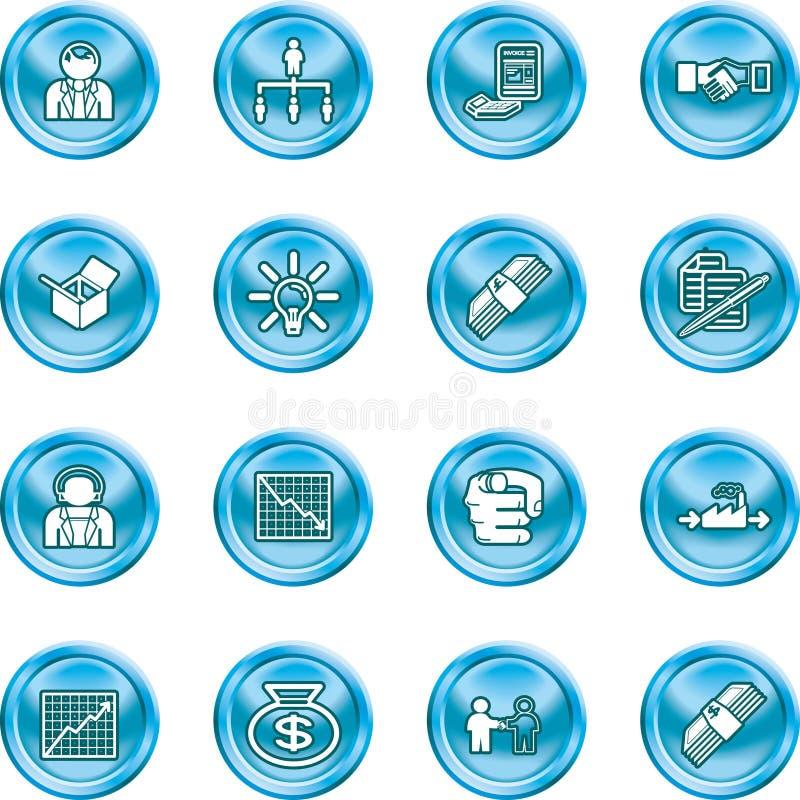 Jogo do ícone do Web do negócio ilustração stock
