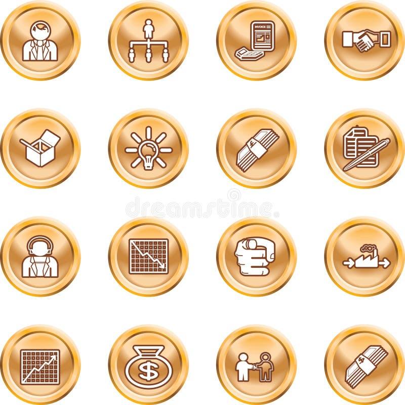 Jogo do ícone do Web do negócio ilustração do vetor