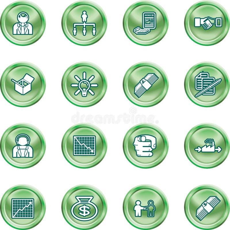 Jogo do ícone do Web do negócio ilustração royalty free