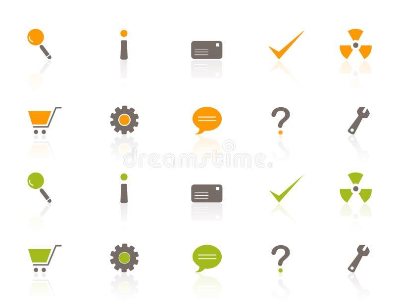 Jogo do ícone do Web e da compra ilustração royalty free