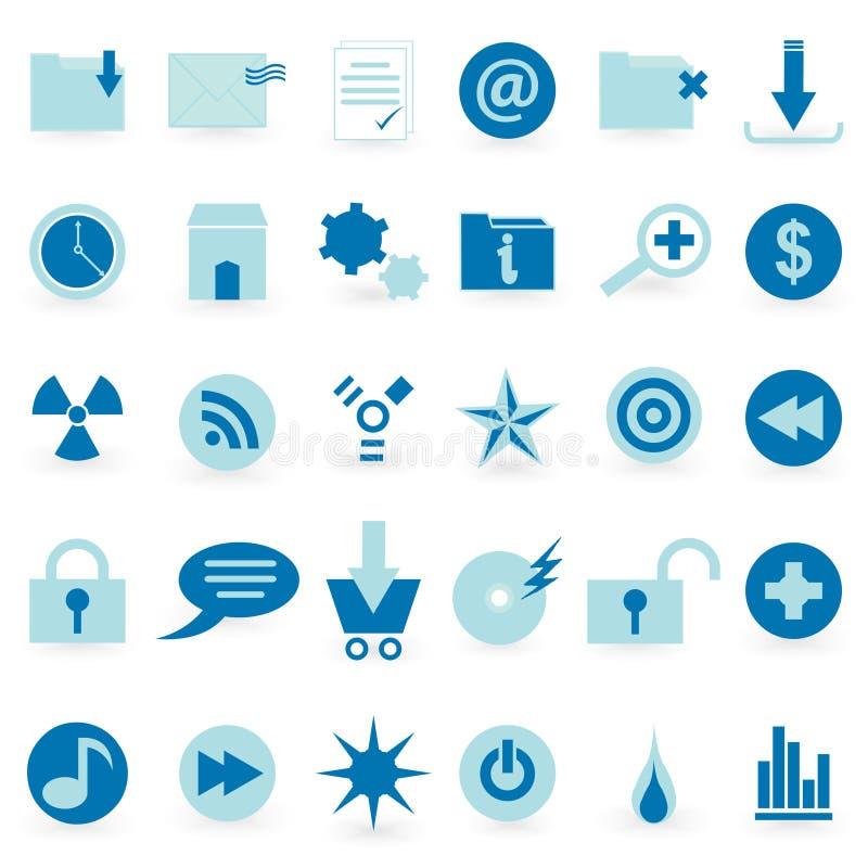 Jogo do ícone do WEB e do vetor do símbolo ilustração royalty free