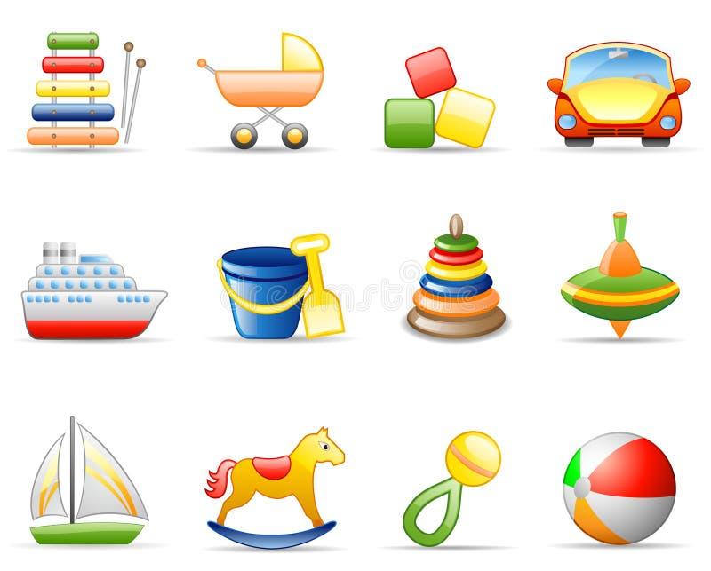 Jogo do ícone dos brinquedos ilustração do vetor