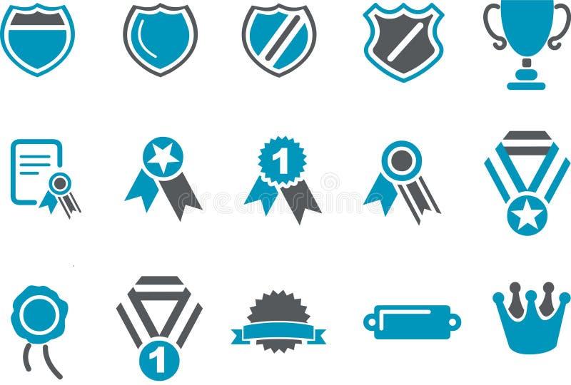 Jogo do ícone dos emblemas ilustração stock