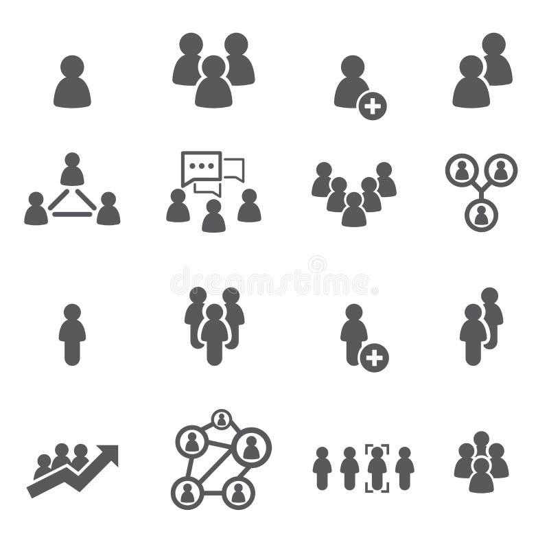 Jogo do ícone dos povos ilustração do vetor