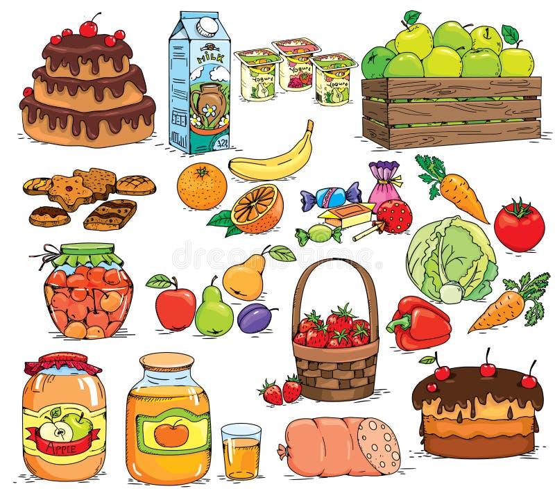 Jogo do alimento ilustração stock