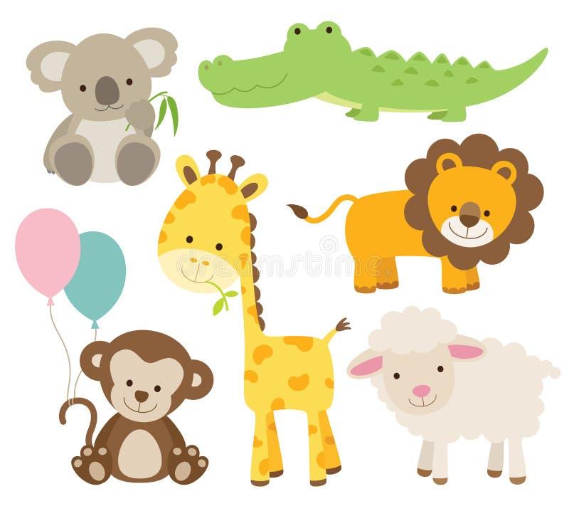 Jogo do animal ilustração royalty free