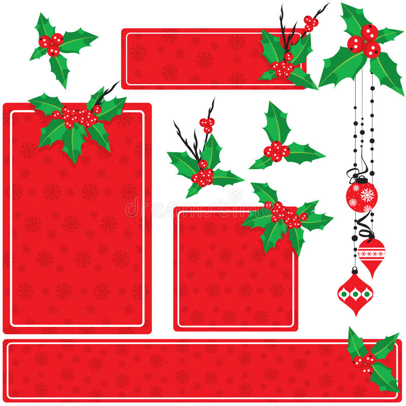 Jogo do azevinho do Natal ilustração stock