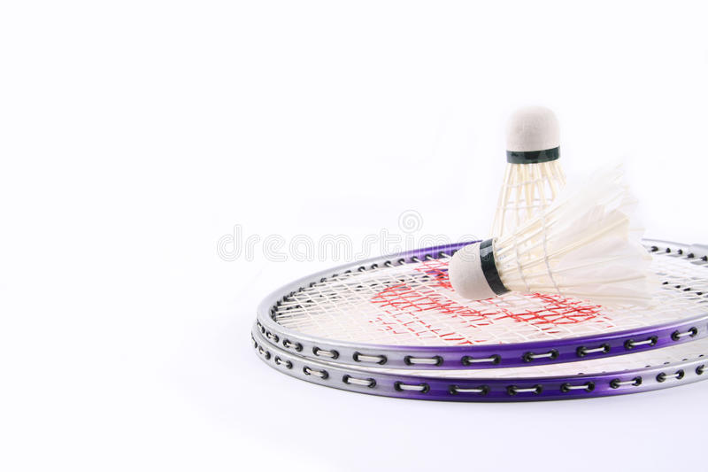 Jogo do Badminton imagens de stock royalty free