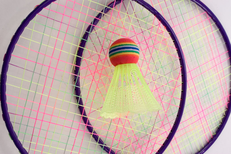 Jogo do Badminton foto de stock royalty free