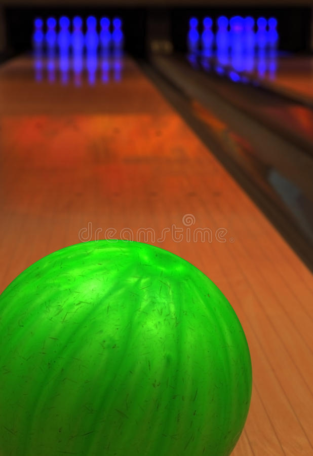 Jogo do bowling imagens de stock