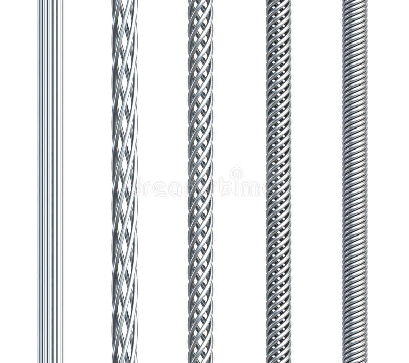 Jogo do cabo do aço sem emenda ilustração stock