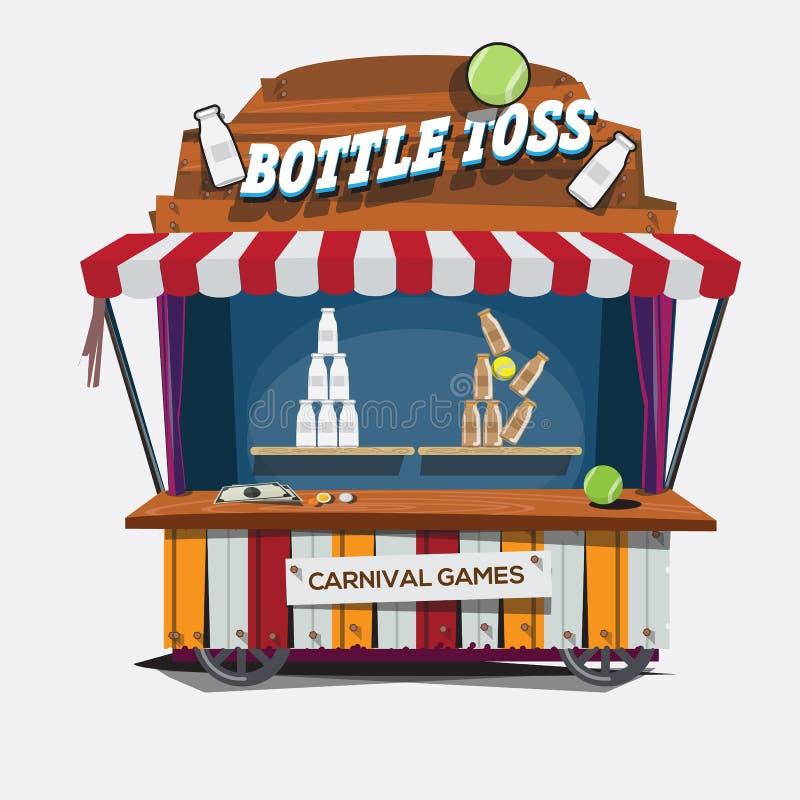 jogo do carnaval Lance da garrafa de leite - ilustração royalty free