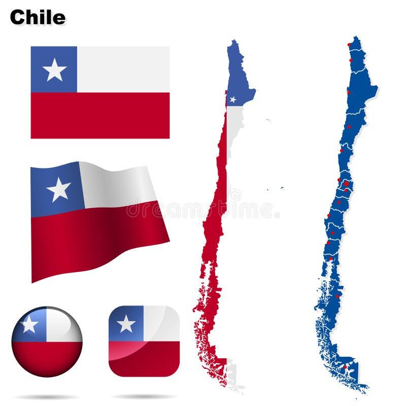 Jogo do Chile. ilustração stock