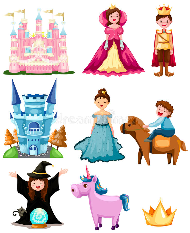 Jogo do conto de fadas ilustração royalty free