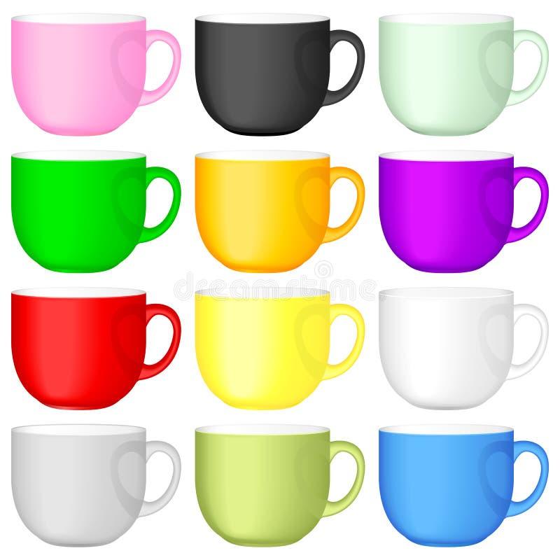 Jogo do copo de café ilustração royalty free