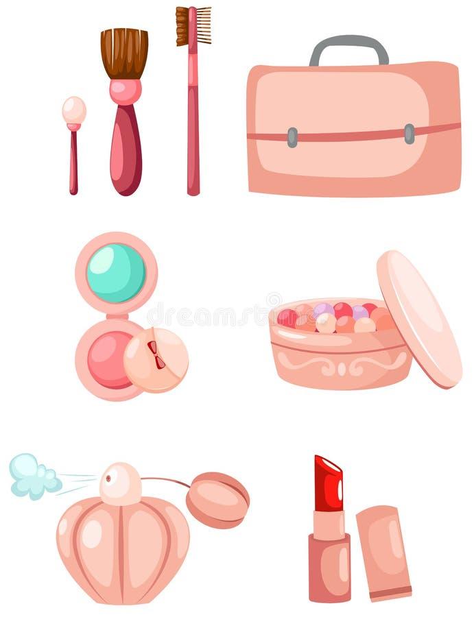 Jogo do cosmético ilustração stock