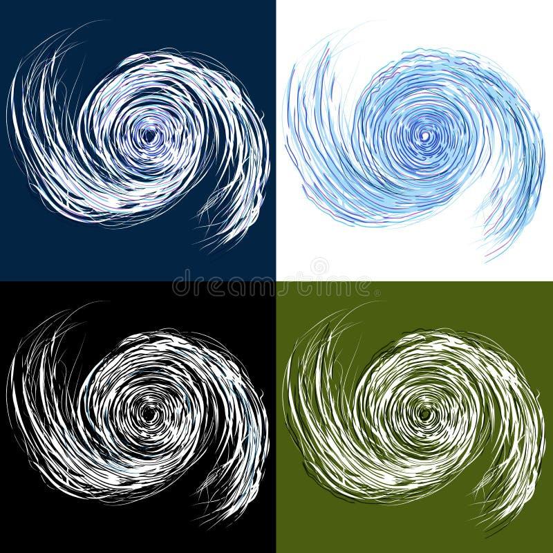 Jogo do desenho do furacão ilustração stock