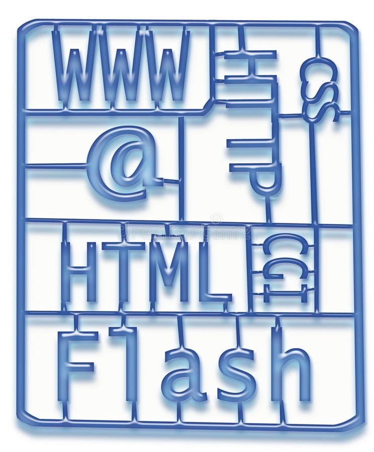 Jogo do desenvolvimento do projeto de Web ilustração stock