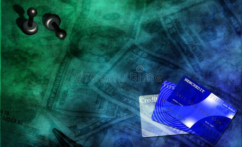 Jogo do dinheiro ilustração royalty free